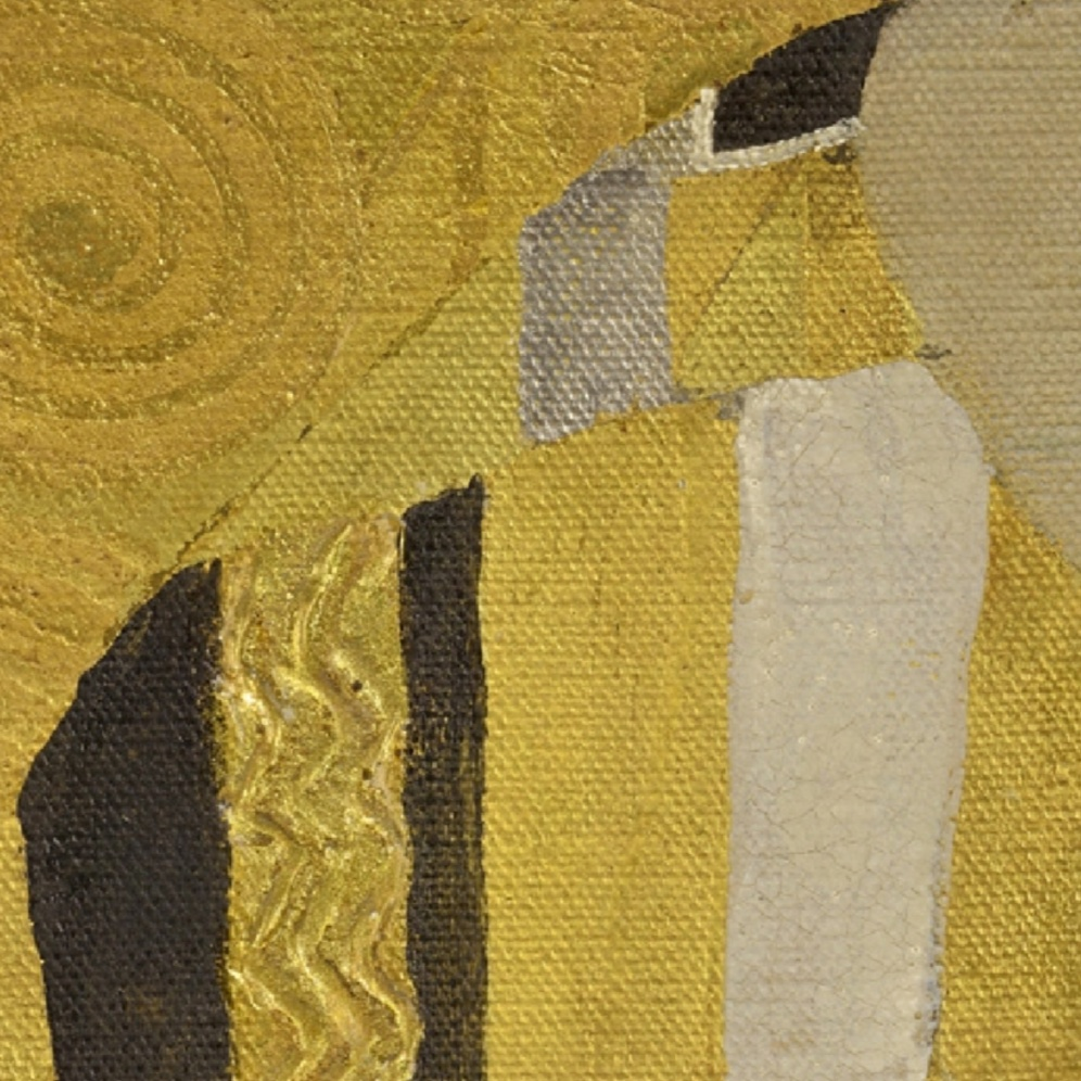 Gustav Klimt, The Kiss [Public domain], via Wikimedia Commons (detail)