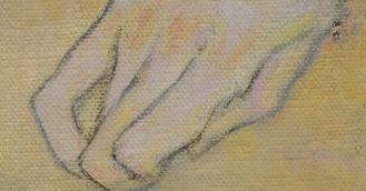 Gustav Klimt, The Kiss [Public domain], via Wikimedia Commons (detail)
