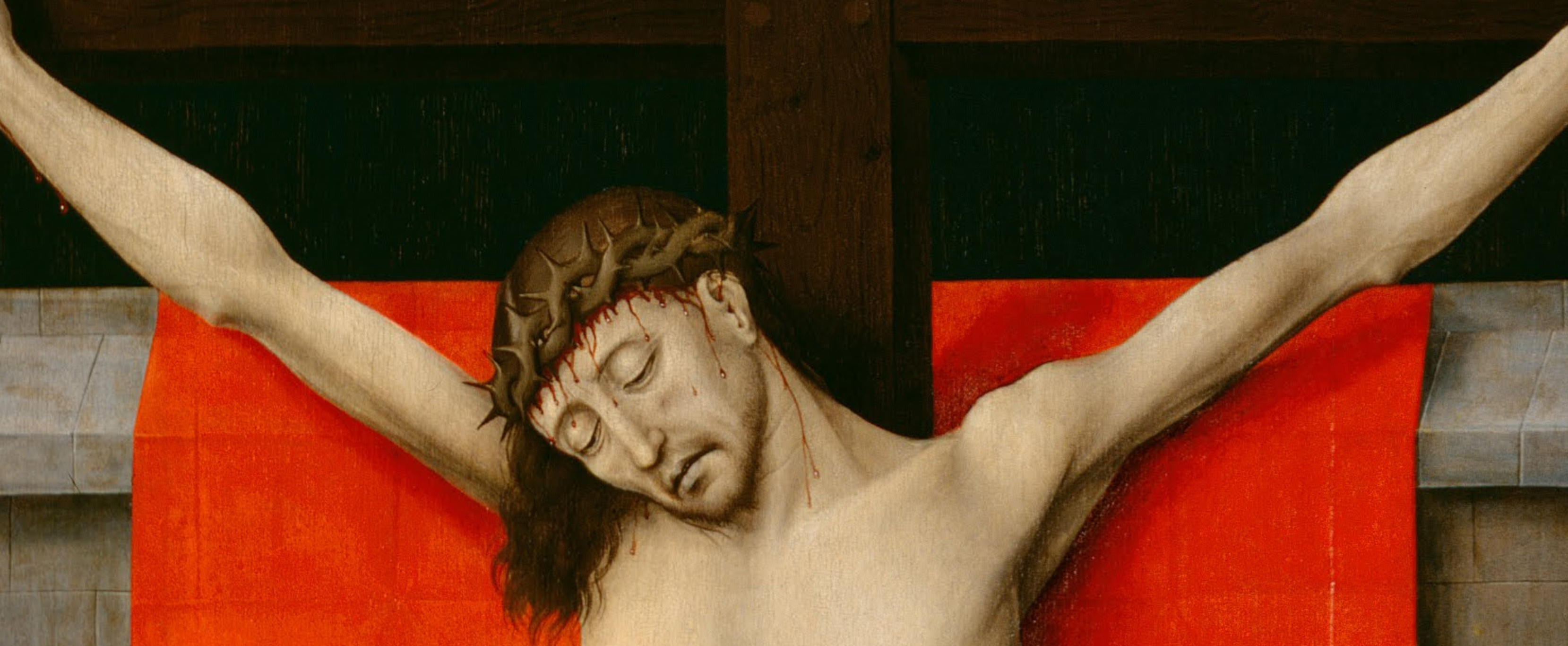 Rogier_van_der_Weyden,_Netherlandish_(active_Tournai_and_Brussels)_-_The_Crucifixion,_with_the_Virgin_and_Saint_John_the_Evangelist_Mourning_-_Google_Art_Project_2