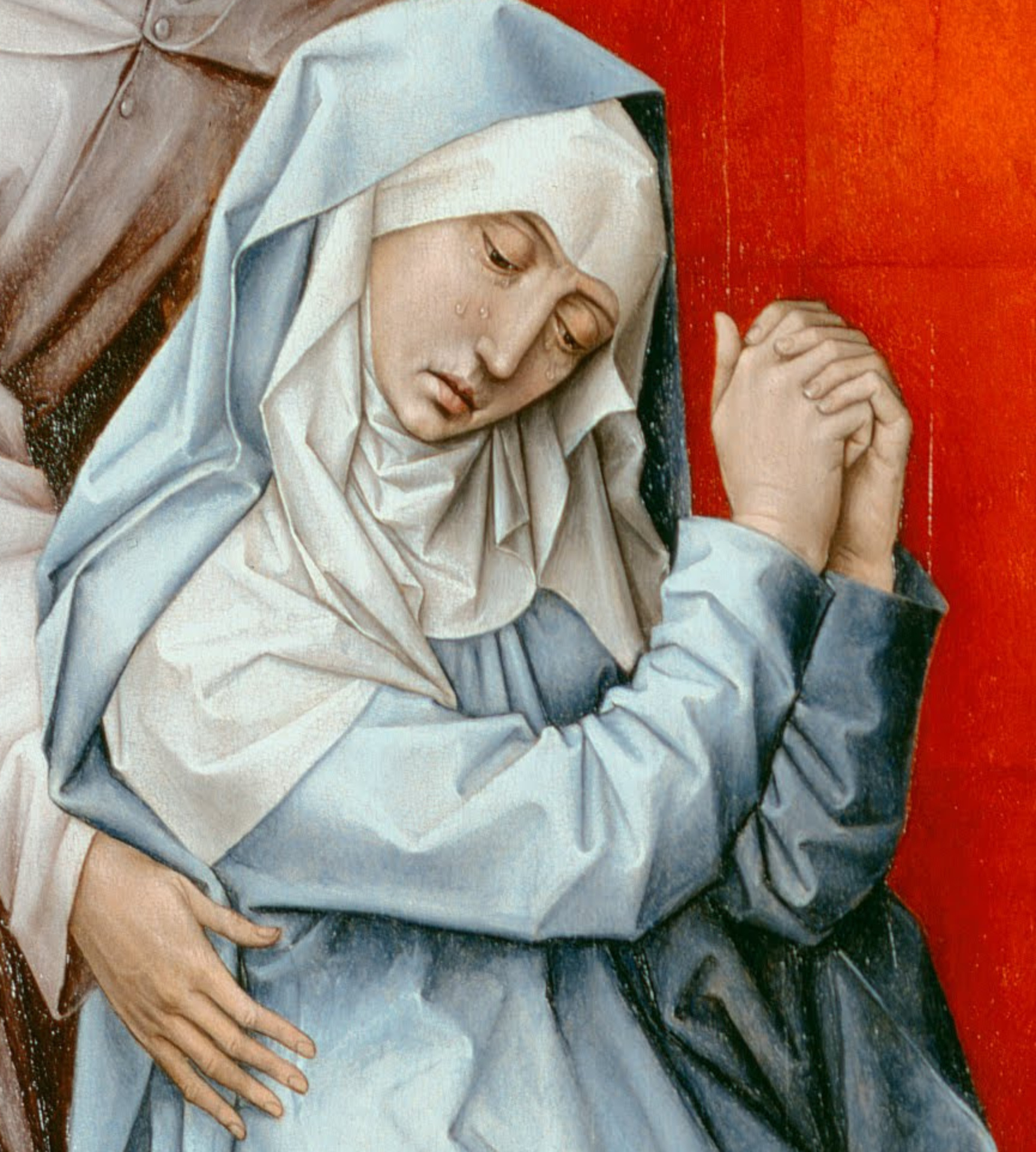 Rogier_van_der_Weyden,_Netherlandish_(active_Tournai_and_Brussels)_-_The_Crucifixion,_with_the_Virgin_and_Saint_John_the_Evangelist_Mourning_-_Google_Art_Project_6