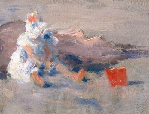 William Merritt Chase, At the Seaside, 1892, The Met, (detail)