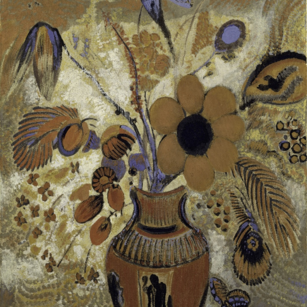 "Odilon Redon, ""Etruscan Vase With Flowers"", (1900-1910), Metropolitan Museum of Art, Maria DeWitt Jesup Fund, 1951; acquired from The Museum of Modern Art, Lillie P. Bliss Collection"