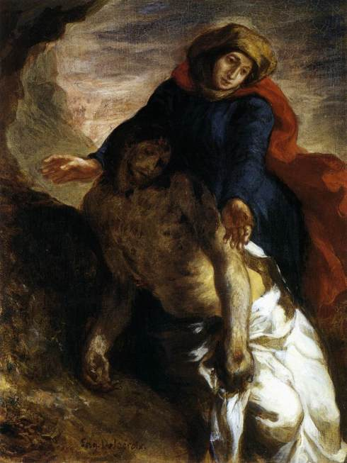 Pieta, by Eugene Delacroix (1850) National Museum of Oslo (1850), image source: http://vincentinparis.com/wp-content/uploads/1889/09/Pieta-Delacroix-1850.jpg