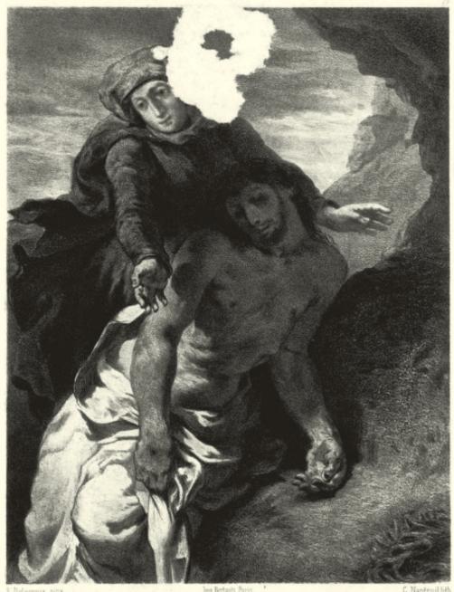 Nanteuil-Leboeuf lithograph after Delacroix's Pietà (c.1850), Amsterdam, Van Gogh Museum, Vincent van Gogh Foundation