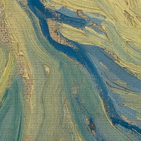 Vincent van Gogh, Pietà (after Delacroix) 1889, oil on canvas, 73 cm x 60.5 cm Credits: Van Gogh Museum, Amsterdam (Vincent van Gogh Foundation),detail