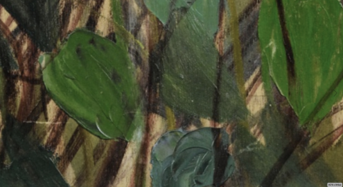 Bibi Zogbé (1890 - 1973, Lebanese) Untitled, signed and dated Bibi Zogbé Paris '36 twice, oil on wood, 65 by 59.5cm.; 25 1/2 by 23 3/8 in., image source: Sotheby's (detail)