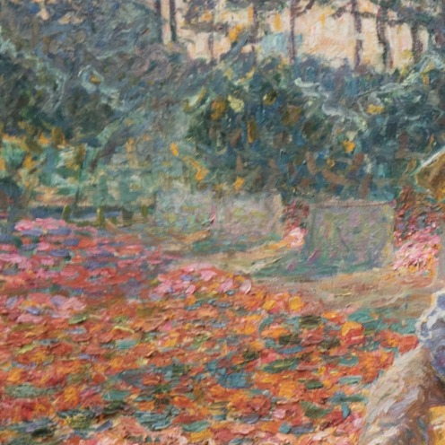 "Jenny Montigny, ""The Gardener"", 180 x 245 cm,Museum of Fine Arts in Ghent, [Public domain or CC BY-SA 4.0 (https://creativecommons.org/licenses/by-sa/4.0)], from Wikimedia Commons], (detail)"