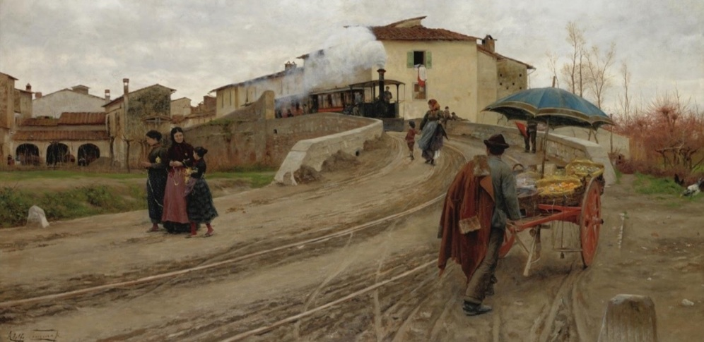 Adolfo Tommasi, Petriolo near Florence, (1884) source: The Athenaeum