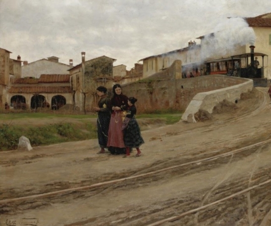 Adolfo Tommasi, Petriolo near Florence, (1884) source: The Athenaeum (detail)