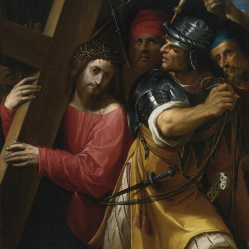 Jacopo Ligozzi (1547–1627) Verona, Florence, Christ Carrying the Cross,1604, oil on canvas,135.5 by 102.2 cm. signed lower left with the artist's device of I-L surmounted by a cross, Image Source: https://commons.wikimedia