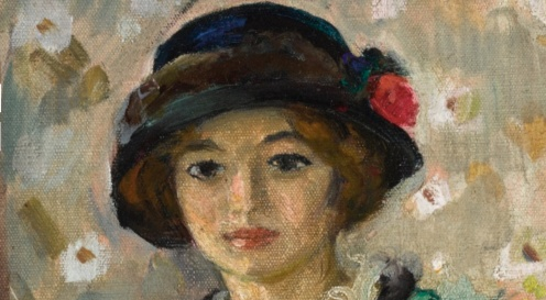 Henri Lebasque (1865 - 1937) Marthe et Pierre Lebasque dans un intérieur, (1913-1914) signed H. Lebasque (lower right), oil on canvas, 64.5 by 54cm., 25 3/8 by 21 1/4 in., Source:Sotheby's (detail)