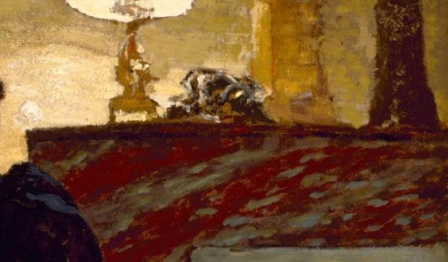 Madame Hessel at Home by Édouard Vuillard c.1908, oil on board, w68.6 x h71.1 cm, Credit Line: The Museum of Fine Arts, Houston, gift of Audrey Jones Beck, The Museum of Fine Arts, Houston, image credit: Google Arts & Culture (detail)