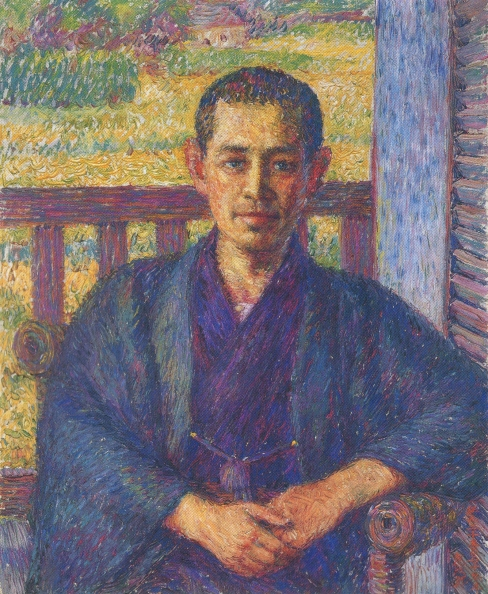 Portrait of Ōhara Magosaburō (1915) by Torajiro Kojima, oil on canvas, Ōhara Museum of Art, [Public domain], Image via Wikimedia Commons