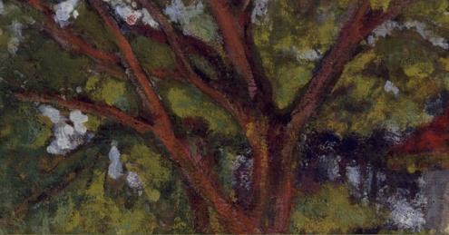 Édouard Vuillard, Garden at Vaucresson, 1923,The Metropolitan Museum of Art (detail)