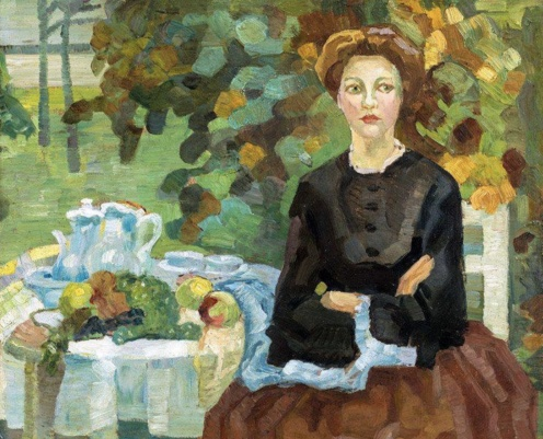 Leo Putz - In the Autumn Garden, Public Domain Via Irina https://www.flickr.com/photos/repolco/31485927298/in/dateposted/