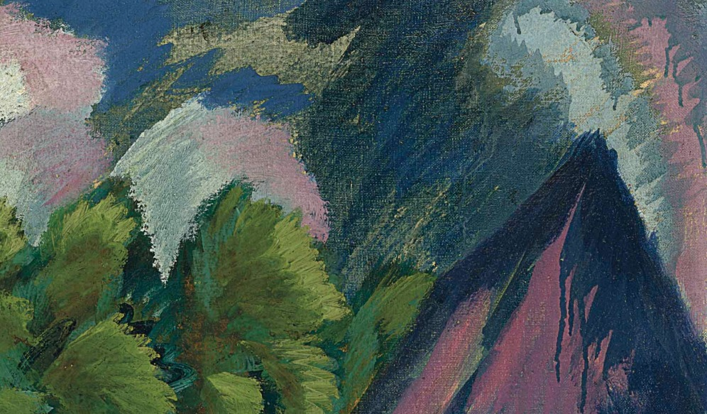 Ernst Ludwig Kirchner (1880-1938), Gut Staberhof III (1913), oil on canvas, 32 1/8 x 35 5/8 in. (81.6 x 90.5 cm.), Source: Christie's, (detail)