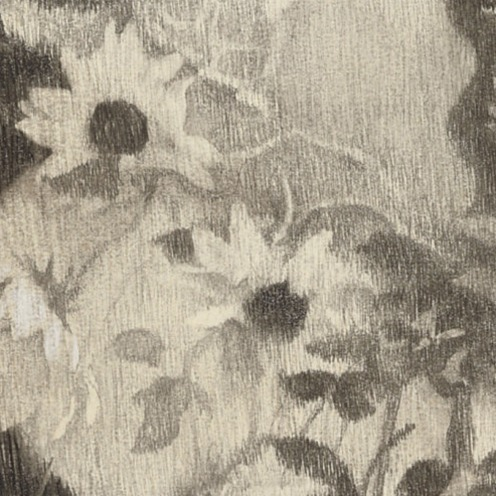 Lilian Westcott Hale (1881-1963), Black Eyed Susans, signed 'Lilian Westcott Hale' (upper right), charcoal and colored pencil on paper, 22½ x 25½ in. (57.2 x 64.8 cm.), Source: Christie's, (detail)
