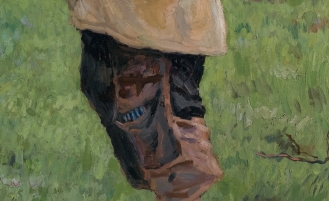 Nikolai Petrovich Bogdanov-Belsky, (1868-1945), Country Boys, signed in Cyrillic and dated 1916 l.l., oil on canvas, 153 by 124cm, 60 1/4 by 48 3/4 in., Source: Sotheby's. (detail).