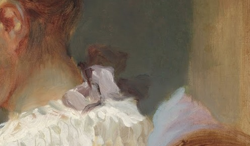 Jean-Honoré Fragonard, French, 1732 - 1806, Young Girl Reading, c. 1770, oil on canvas, Gift of Mrs. Mellon Bruce in memory of her father, Andrew W. Mellon, 1961.16.1 National Gallery of Art, Image Source: Google Arts and Culture, (detail).