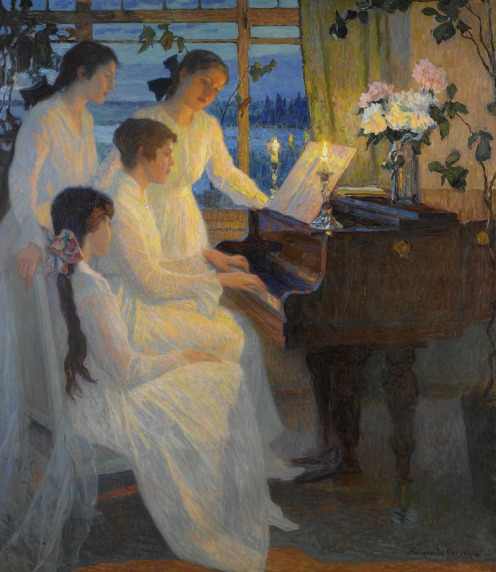 Nikolai Petrovich Bogdanov-Belsky, (1868-1945), Symphony, signed in Cyrillic l.r., oil on canvas, 160.5 by 141cm., 63 by 55 1/2 in., Image Source: Sotheby's