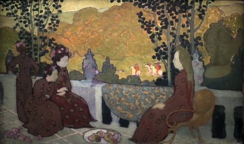 Maurice Denis, September Evening, (1891), Musée d'Orsay, Maurice Denis CC BY-SA 2.0 fr (https://creativecommons.org/licenses/by-sa/2.0/fr/deed.en)], via Wikimedia Commons