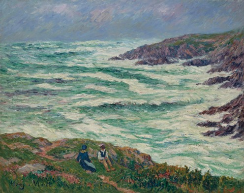 Henry Moret (1856-1913), Grosse mer (1913), signed and dated 'Henry. Moret 1913' (lower left), oil on canvas, 28 7/8 x 36 ¼ in. , Source: Christie's