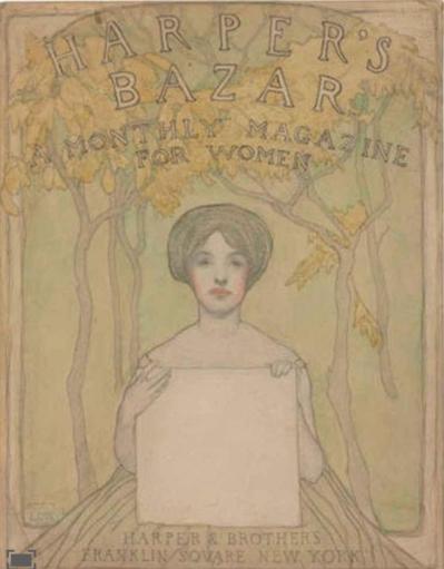 Screenshot_2018-11-21 Lilian Westcott Hale A cover for Harper's Bazaar MutualArt