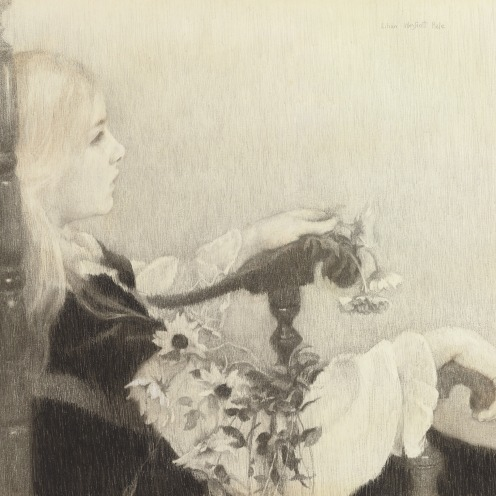 Lilian Westcott Hale (1881-1963), Black Eyed Susans, signed 'Lilian Westcott Hale' (upper right), charcoal and colored pencil on paper, 22½ x 25½ in. (57.2 x 64.8 cm.), Source: Christie's