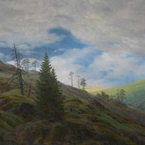 Caspar David Friedrich, (1774 - 1840), German, SONNENBLICK IM RIESENGEBIRGE (SUNBURST IN THE RIESENGEBIRGE), oil on canvas, 25.5 by 31.5cm., 10 by 12½in., Source: Sotheby's