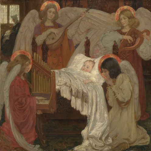 Isobel Lilian Gloag, R.O.I., N.W.S. (1865-1917), Four corners to my bed, signed and inscribed, oil on canvas, 54 ¼ x 54 ½ in. (137.8 x 138.5 cm.), Source: Christie's