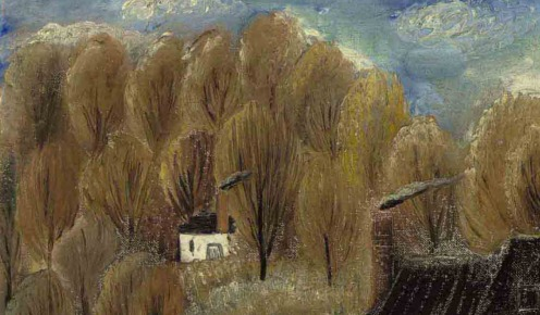 Reuven Rubin (1893-1974) Autumn Landscape, Peekskill, New York (1928), signed and signed again in Hebrew 'Rubin' (lower right) , oil on canvas laid down on board, 20 1/8 x 27 7/8 in. (51.2 x 70.8 cm.) Source: Christie's.(detail)