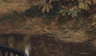 James (Jacques) Joseph Tissot (1836-1902), Waiting (also known as In the Shallows), signed 'J J Tissot' (lower left), oil on canvas, 22 x 31 in. (55.9 x 78.8 cm.), Source: Christie's, Link: https://www.christies.com/lotfinder/lot/james-joseph-tissot-waiting-5807496-details.aspx?from=searchresults&intObjectID=5807496&sid=aea0dd13-66a5-487d-9f80-304c17f332f2 , (detail).