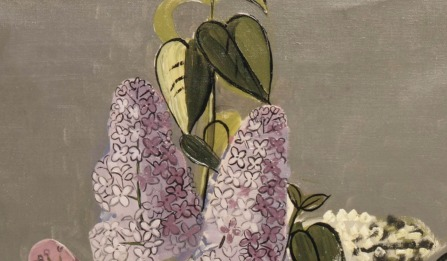 Jean Brusselmans (Belgian, 1884-1953), Seringen [Lilacs], 1934. Oil on canvas, 85 x 60 cm., Source: https://herzogtum-sachsen-weissenfels.tumblr.com/image/179720043974 (detail)