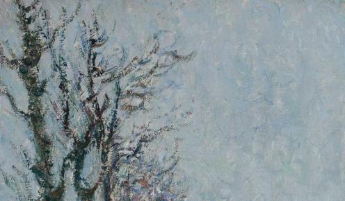 Gustave Loiseau (1865-1935), Le Quai du Pothuis à Pontoise, signed and dated 'G. Loiseau 1905' (lower left), oil on canvas, 21 3/8 x 25 ¾ in. (54.1 x 65.3 cm.), Painted in 1905, Source: Christie's, (detail).