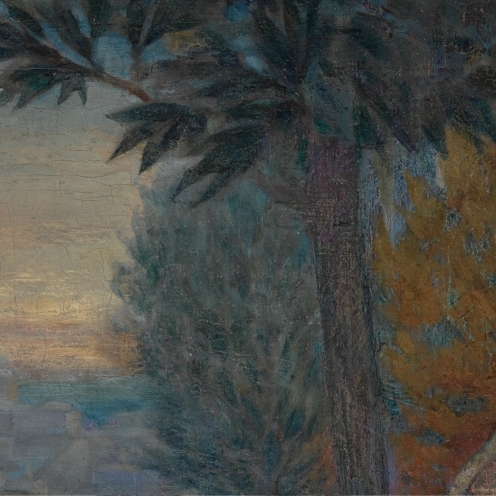 Wilhelm Wachtel, (1875-1942), THE KING OF ISRAEL VIEWING JERUSALEM FROM HIS GARDENS, signed W. Wachtel (lower right), oil on canvas, 22 1/8 by 28 1/8 in., 56.3 by 71.5 cm, Source: Sotheby's, (detail).
