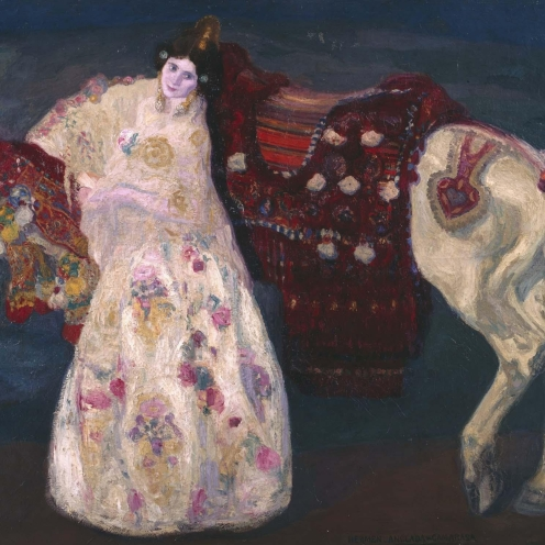 La novia de Benimamet, Hermen Anglada Camarasa, 1906, National Museum Center of Arts, Reina Sofia, Source: http://www.museoreinasofia.es/coleccion/obra/novia-benimamet