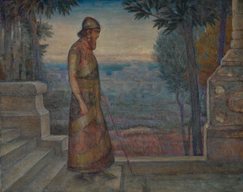 Wilhelm Wachtel, (1875-1942), THE KING OF ISRAEL VIEWING JERUSALEM FROM HIS GARDENS, signed W. Wachtel (lower right), oil on canvas, 22 1/8 by 28 1/8 in., 56.3 by 71.5 cm, Source: Sotheby's