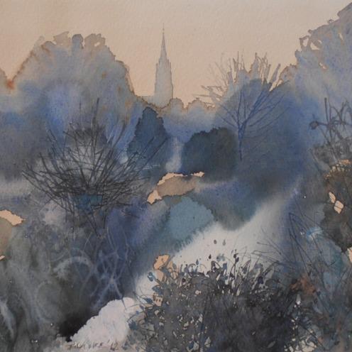 Endre Penovác, A/033-2012, akvarell, 28x38cm, Source: http://penovacendre.com/node/35?titles=off