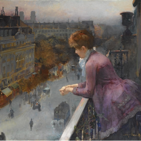 Charles Leroy Saint Aubert, (1852-1907, FRENCH), AU DESSUS DU BOULEVARD DE SEBASTOPOL, PARIS, signed Leroy. Saint. Aubert. lower right, oil on canvas, 73 by 88.5cm., 28¾ by 34¾in., Source: Sotheby's, Link: http://www.sothebys.com/en/auctions/ecatalogue/lot.143.html/2009/19th-century-european-paintings-including-german-austrian-central-european-paintings-the-orientalist-sale-spanish-painting-and-the-scandinavian-sale-l09661