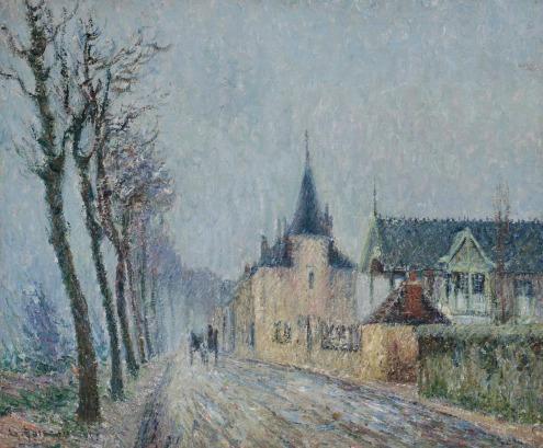 Gustave Loiseau (1865-1935), Le Quai du Pothuis à Pontoise, signed and dated 'G. Loiseau 1905' (lower left), oil on canvas, 21 3/8 x 25 ¾ in. (54.1 x 65.3 cm.), Painted in 1905, Source: Christie's