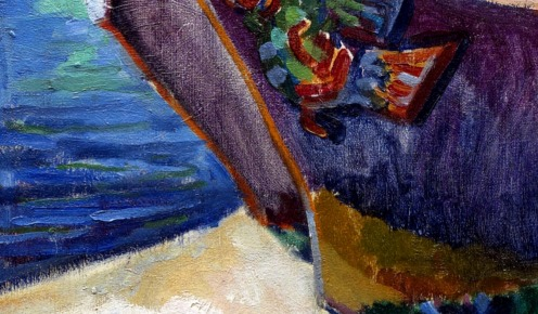 War Canoes, Alert Bay,(1912) source wikimedia commons, detail