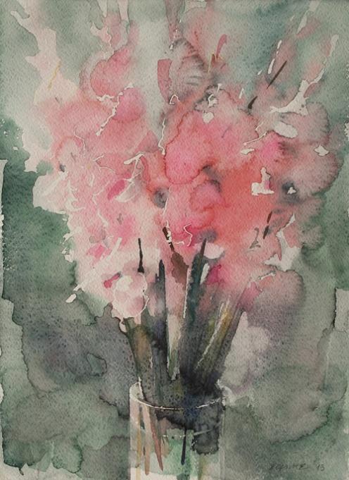 Endre Penovác, A/040 – 2013, akvarell, 38x28 cm, Source: http://penovacendre.com/node/35?titles=off