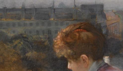 Charles Leroy Saint Aubert, (1852-1907, FRENCH), AU DESSUS DU BOULEVARD DE SEBASTOPOL, PARIS, signed Leroy. Saint. Aubert. lower right, oil on canvas, 73 by 88.5cm., 28¾ by 34¾in., Source: Sotheby's, Link: http://www.sothebys.com/en/auctions/ecatalogue/lot.143.html/2009/19th-century-european-paintings-including-german-austrian-central-european-paintings-the-orientalist-sale-spanish-painting-and-the-scandinavian-sale-l09661, (detail)