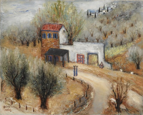 Reuven Rubin, (1893-1974), ENTRANCE TO SAFED (early 1950s), signed Rubin and signed in Hebrew (lower left), oil on canvas, 21 by 26 in., 53.5 by 66 cm., Source: Sotheby's