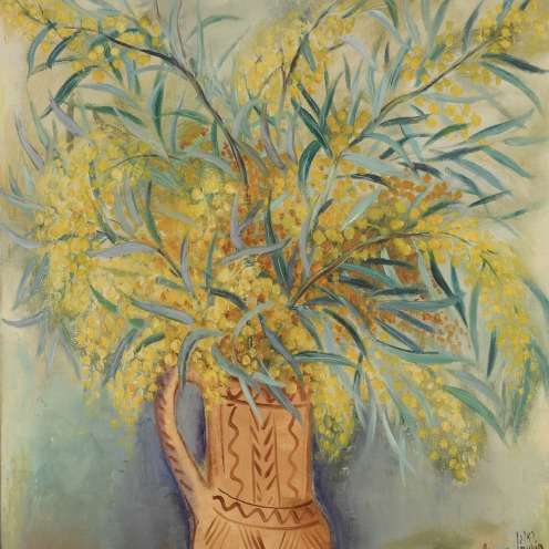 rubin, reuven mimosas in an a still life sotheby's n09638lot9mkxcen