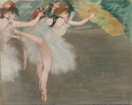 Edgar Degas (1834 - 1917), Danseuses en Blanc (c.1878), Signed Degas (upper right), Pastel and gouache on joined paper, 20 7/8 by 25 3/8 in., 53 by 65.2 cm, Source: Sotheby's