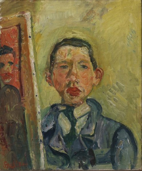 Chaim Soutine, Self Portrait, 1918, Henry and Rose Pearlman Collection, on long-term loan to the Princeton University Art Museum, Source: wikipedia.