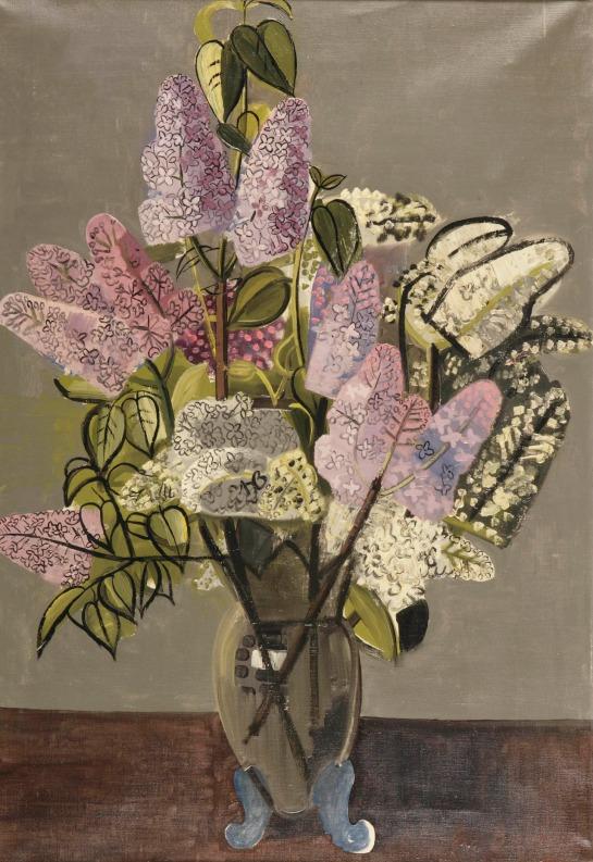 Jean Brusselmans (Belgian, 1884-1953), Seringen [Lilacs], 1934. Oil on canvas, 85 x 60 cm., Source: https://herzogtum-sachsen-weissenfels.tumblr.com/image/179720043974