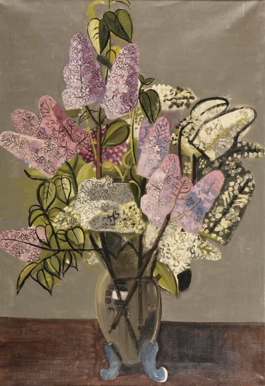 Jean Brusselmans (Belgian, 1884-1953), Seringen [Lilacs], 1934. Oil on canvas, 85 x 60 cm., Source: https://herzogtum-sachsen-weissenfels.tumblr.com/image/179720043974