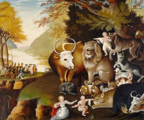Edward Hicks, The Peaceable Kingdom (1826), National Gallery of Art, Washington, DC